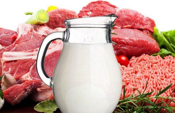 В России сократилось потребление молока, мяса, сахара и масла
