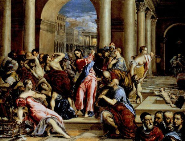 Эль Греко. «Христос изгоняет торговцев из храма»