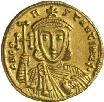 Изображение императора Константина Копронима на монете