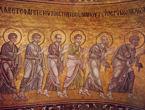 Апостолы. Мозаика Софии Киевской