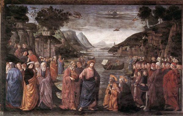 Призвание апостолов. Фреска в Сикстинской капелле.