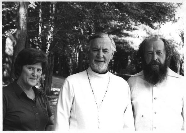 Шмеманы и Солженицын. Фото: schmemann.org