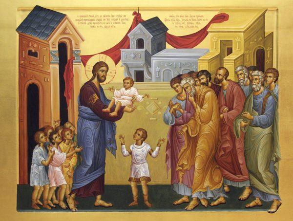 Благословение детей. Икона