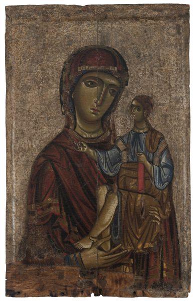 Богоматерь с Младенцем. XIII век. Дерево, темпера. Византийский и Христианский музей, Афины