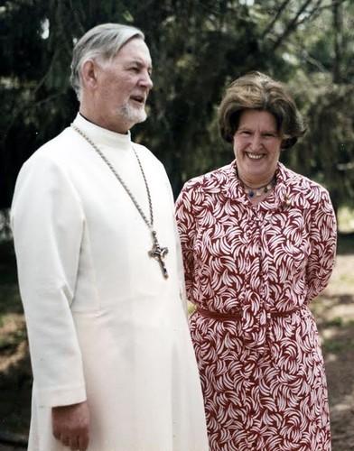 Протоиерей Александр Шмеман с женой