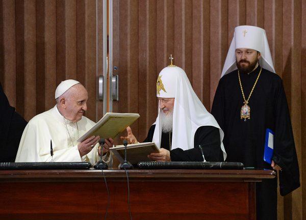Встреча Святейшего Патриарха Кирилла с Папой Римским 12 февраля 2016 года. Фото: patriarchia.ru