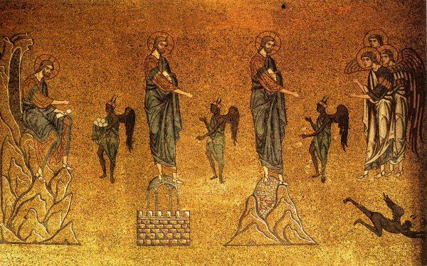 «Искушение Христа». Мозаика собора Святого Марка