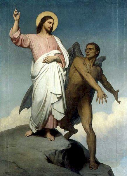 Ари Шеффер. «Искушение Христа» (1854)