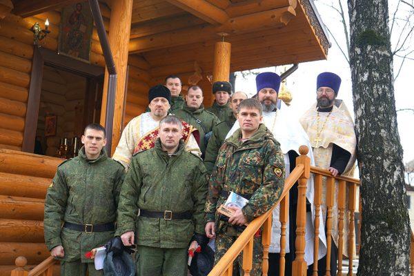 Освящен храм на территории части Росгвардии в Москве