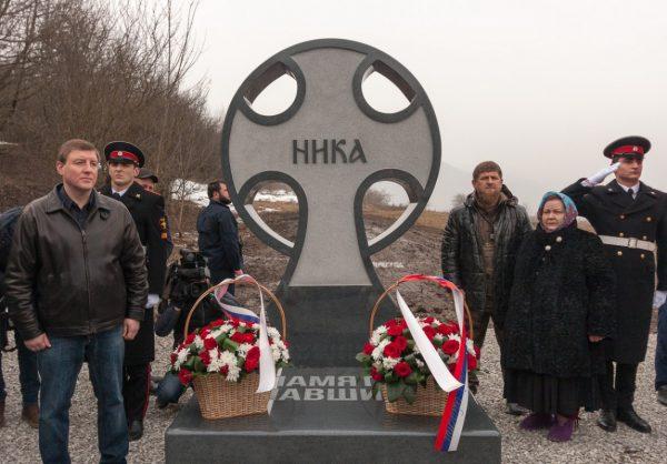 Поклонный крест псковским десантникам открыли в Чечне