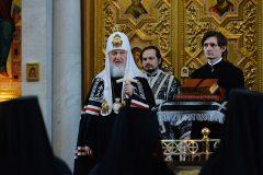 Патриарх Кирилл подарил Иоанно-Предтеченскому монастырю молитвослов 1857 года