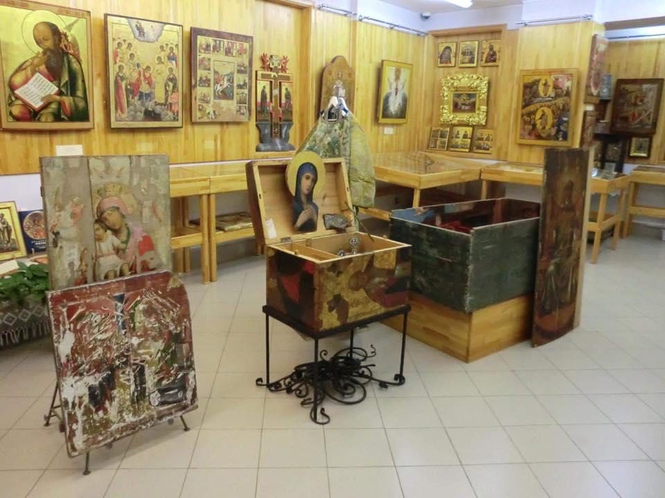 Фото невьянской иконы из музея в екатеринбурге