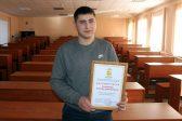 Студента, спасшего заблудившегося мужчину, наградили в Кирове