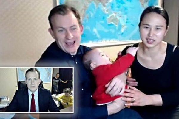 """Как дети """"помогли"""" отцу дать интервью BBC: 84 миллиона просмотров (+видео)"""