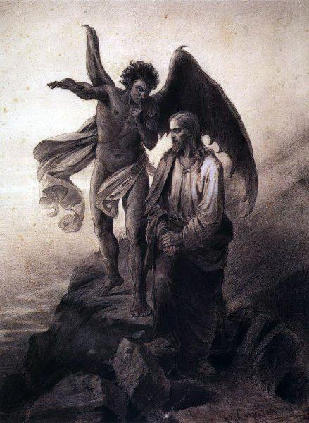 В. Суриков. Искушение Христа