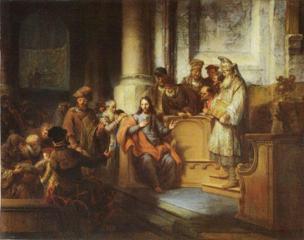 Христос в синагоге. Художник Gerbrand van den Eeckhout