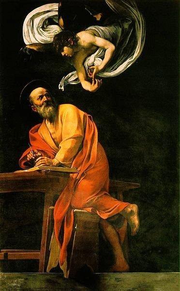 """Караваджо. """"Святой Матфей и Ангел"""""""