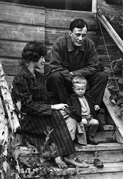 Сергей Фудель с женой и сыном