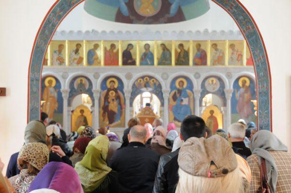 Богослужение в Неделю Торжества Православия. Фото: stcaterina.com