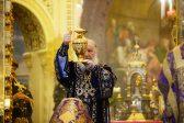Патриарх Кирилл совершил чин освящения мира в Храме Христа Спасителя