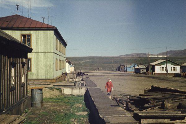 Так выглядела главная улица Новое Чаплино (1977)