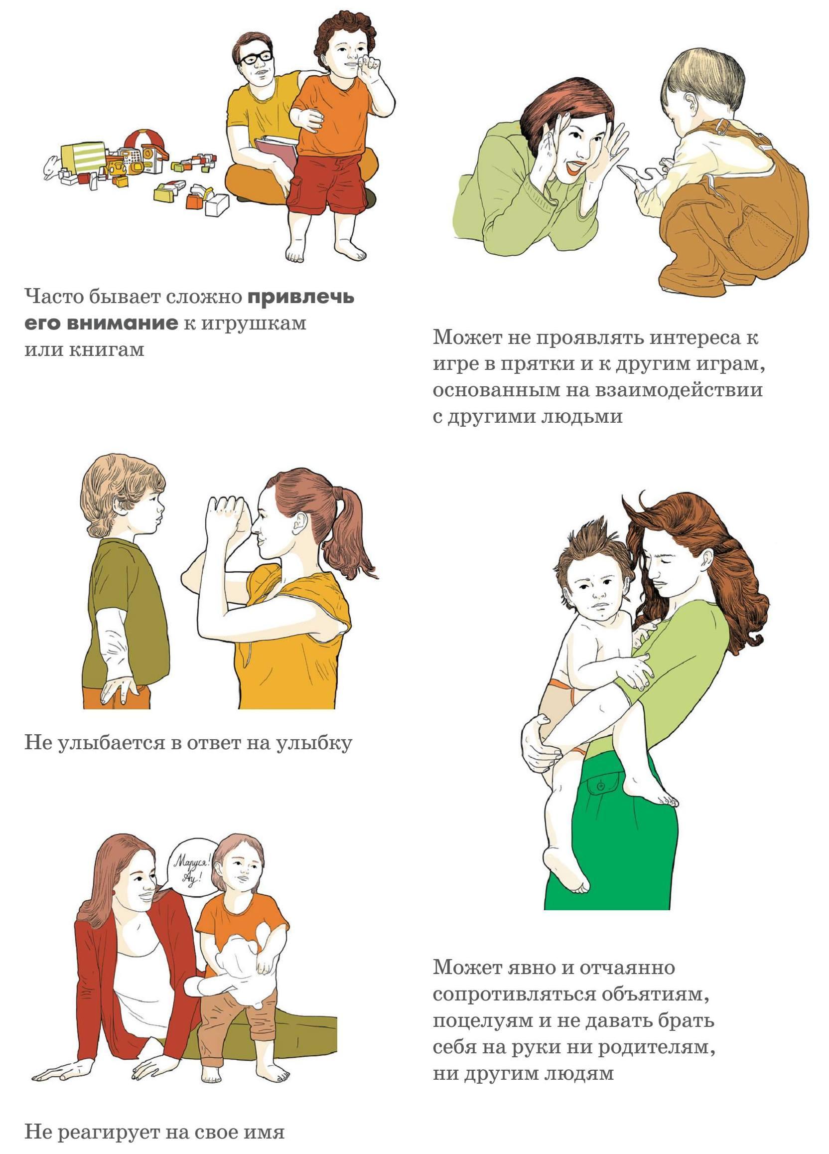 аутизм, признаки у детей