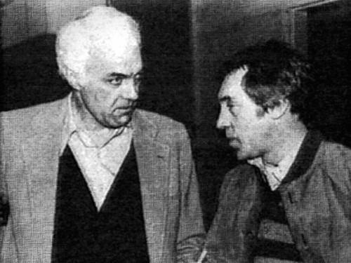 Альберт Тодд и Владимир Высоцкий в Квинс-колледже
