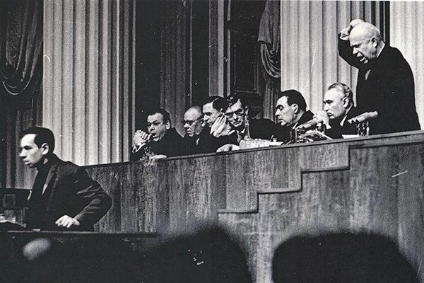 Никита Хрущев на встрече с творческой интеллигенцией 7 марта 1963 года