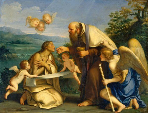 Маркантонио Франческини, Последнее причастие Святой Марии Египетской