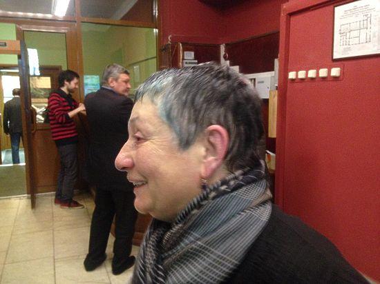 Людмила Улицкая после нападения. Фото: Twitter/Memorial