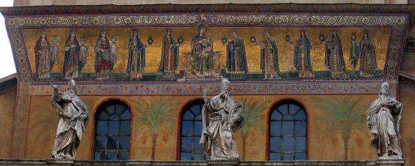 Мозаика фасада церкви Санта-Мария-ин-Трастевере. Фото: Wikimedia commons