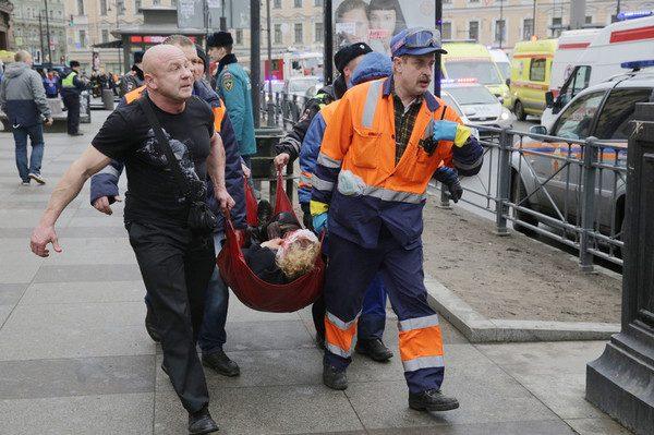 Теракт в метро Санкт-Петербурга 3 апреля 2017 года. Фото: ЕРА