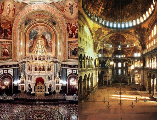 Фото интерьера Храма Христа Спасителя и Софии Константинопольской