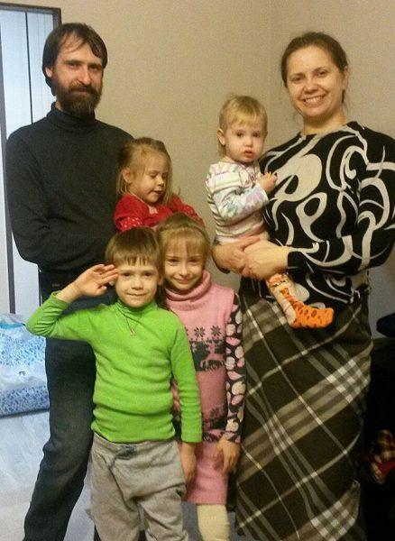Александр Кабанов с семьей