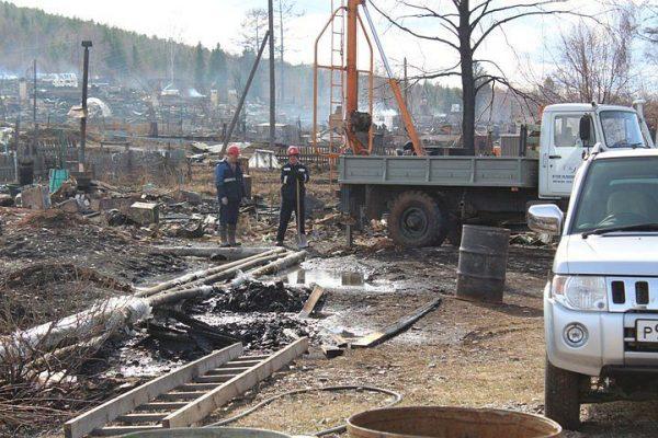 Причиной пожара в иркутском поселке стало замыкание проводов