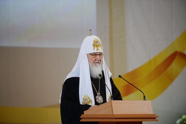 Сергей Собянин поздравил патриарха Кирилла сименинами