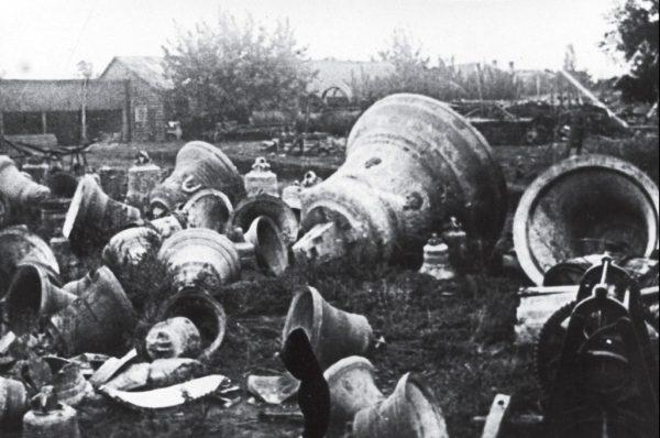Снятые с церквей колокола, г. Запорожье, 1930 год