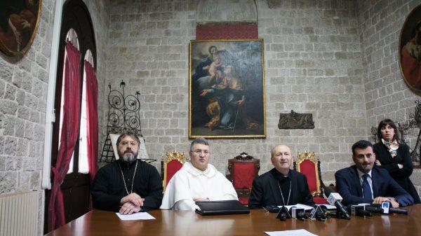 Протоиерей Андрей Бойцов, монсеньор Франческо Какуччи, приор Базилики падре Чиро Капотосто