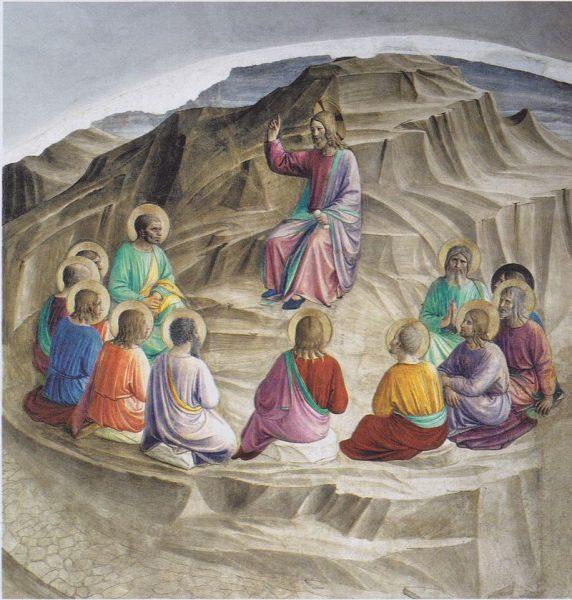 Нагорная прововедь. Фреска в Сан Марко, Флоренция. Художник Фра Анджелико