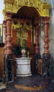 Ковчег с частицей мощей Свт. Николая в Преображенском соборе Николо-Угрешского монастыря