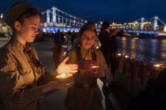 В Москве на маза  со Днем памяти равно скорби зажгли 0418 свечей