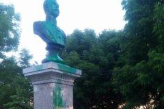 Вандалы осквернили памятник Николаю II во Владивостоке