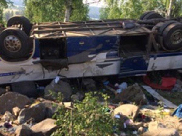 Автобус с паломниками опрокинулся в Забайкальском крае