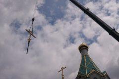 На купол строящегося в Страсбурге храма водружен крест
