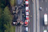 18 пенсионеров сгорели в автобусе в Германии