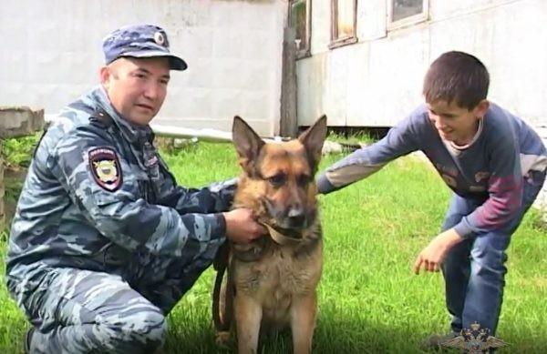 В Башкирии служебная собака помогла спасти пенсионера из болота