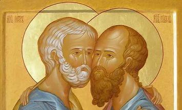 Церковь празднует память апостолов Петра и Павла