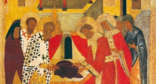 Церковь празднует положение честной Ризы Пресвятой Богородицы во Влахерне