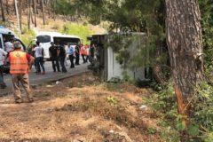 Автобус с россиянами перевернулся в Турции