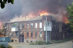 В Ростове-на-Дону загорелось более десятка частных домов